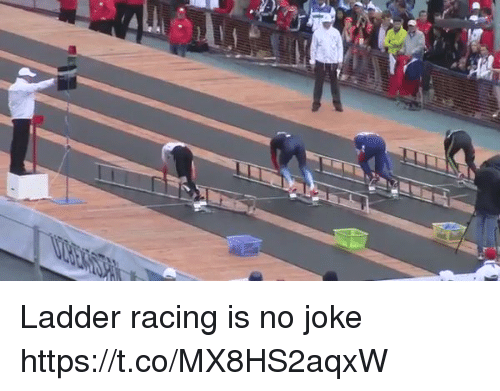 Funny, Racing, and Joke: Ladder racing is no joke https://t.co/MX8HS2aqxW