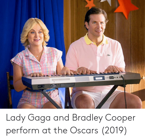 the oscars: Lady Gaga and Bradley Cooper perform at the Oscars (2019)