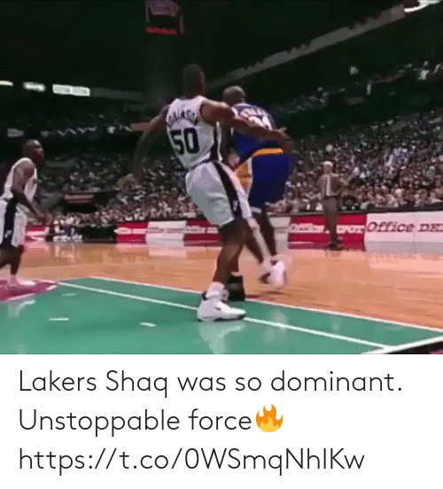 force: Lakers Shaq was so dominant. Unstoppable force🔥 https://t.co/0WSmqNhIKw
