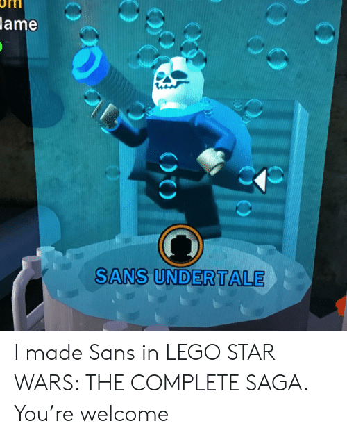 In Lame Star The Undertale I Complete Sans Saga Made Wars Lego k0nX8wPO