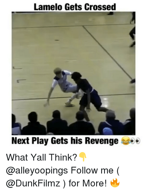 revengeance: Lamelo Gets Crossed  Next Play Gets his Revenge ee What Yall Think?👇 @alleyoopings Follow me ( @DunkFilmz ) for More! 🔥