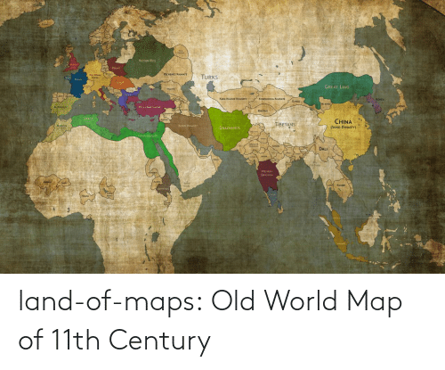 Maps: land-of-maps:  Old World Map of 11th Century