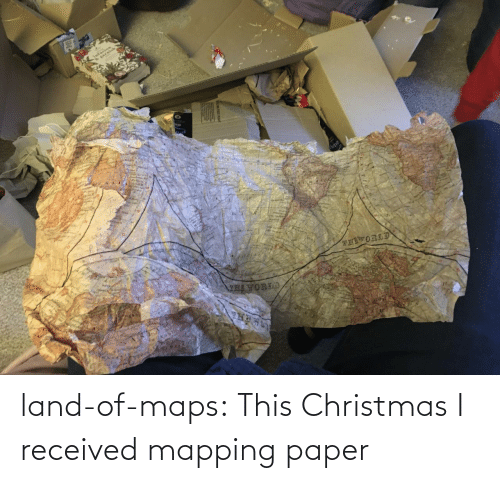 href: land-of-maps:  This Christmas I received mapping paper