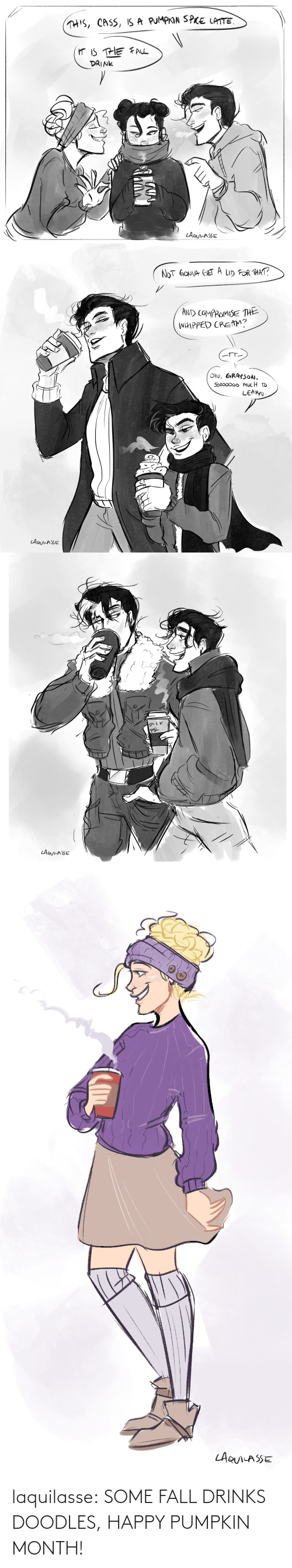 Fall, Target, and Tumblr: laquilasse:  SOME FALL DRINKS DOODLES, HAPPY PUMPKIN MONTH!