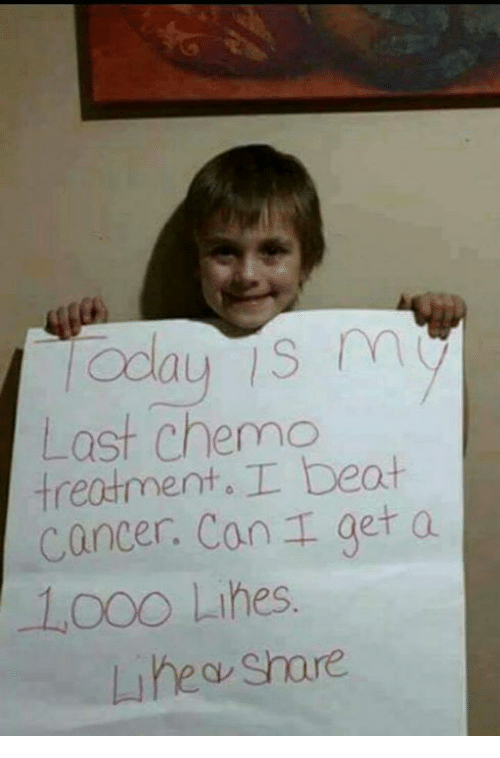 Memes, Cancer, and 🤖: Last chemc  treatment.I beat  cancer. can  get a  Looo Lihes.  uhea Share