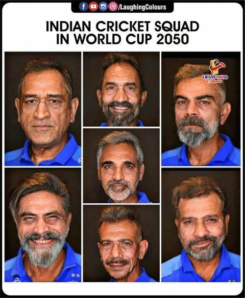 Squad, World Cup, and Cricket: /LaughingColours  INDIAN CRICKET SQUAD  IN WORLD CUP 2050  LAUGHING  Cleurs