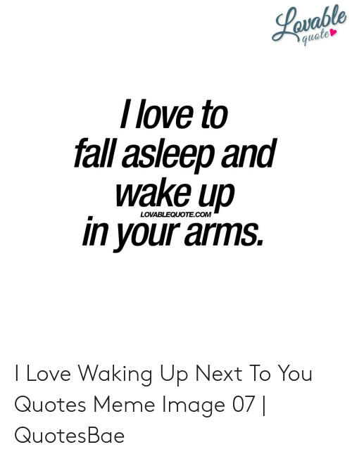 Lavable Quete I Love to Fall Asleep and Wake Up in Your Arms ...