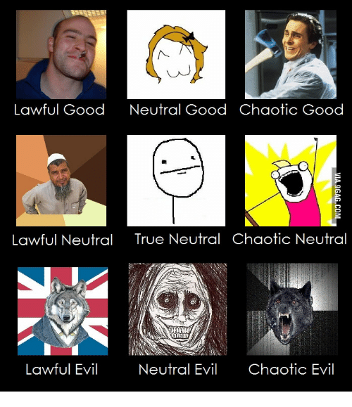 lawful good neutral good chaotic good lawful neutral true neutral 14988388 🐣 25 best memes about how to play chaotic neutral how to play