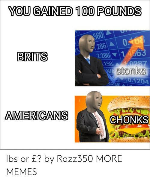 lbs: lbs or £? by Razz350 MORE MEMES