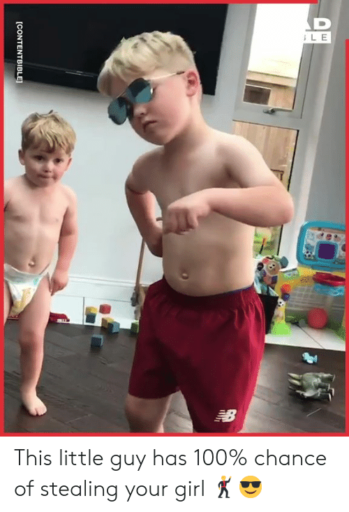 little guy: LE  [CONTENTBIBLE This little guy has 100% chance of stealing your girl 🕺😎