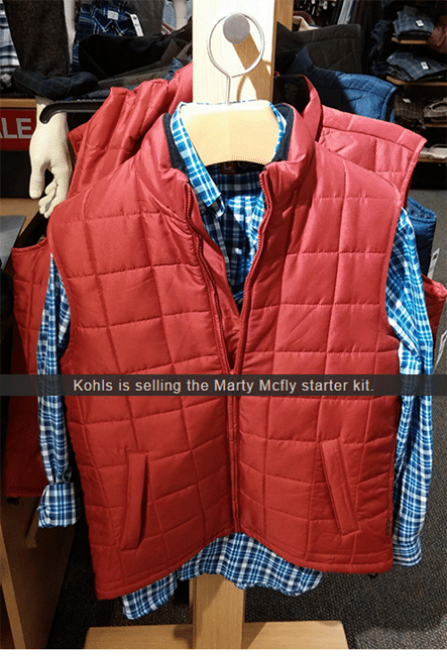 Marty McFly: LE  Kohls is selling the Marty Mcfly starter kit.