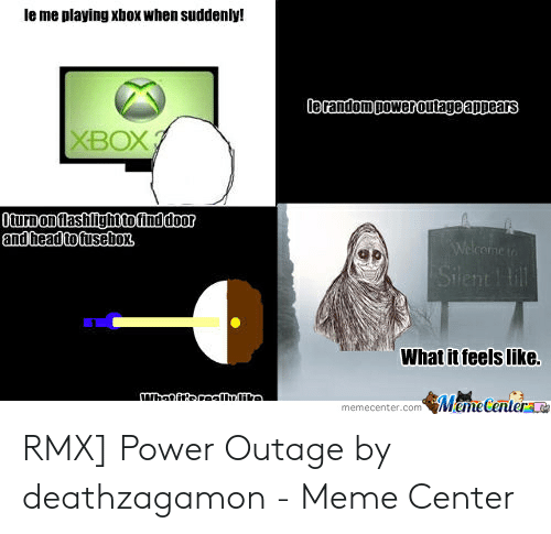 Le Me Playing Xbox When Suddenly! Le Random Poweroutage Appears XBOX