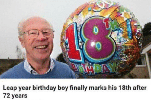 Birthday, Boy, and Leap Year: Leap year birthday boy finally marks his 18th after  72 years
