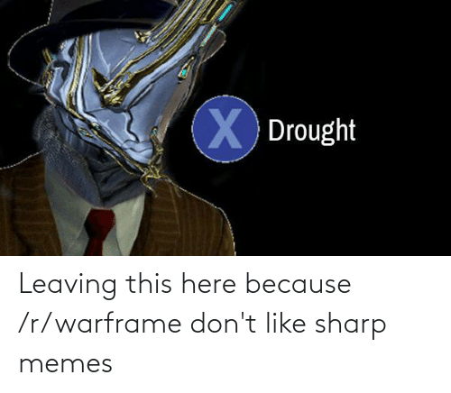 leaving: Leaving this here because /r/warframe don't like sharp memes
