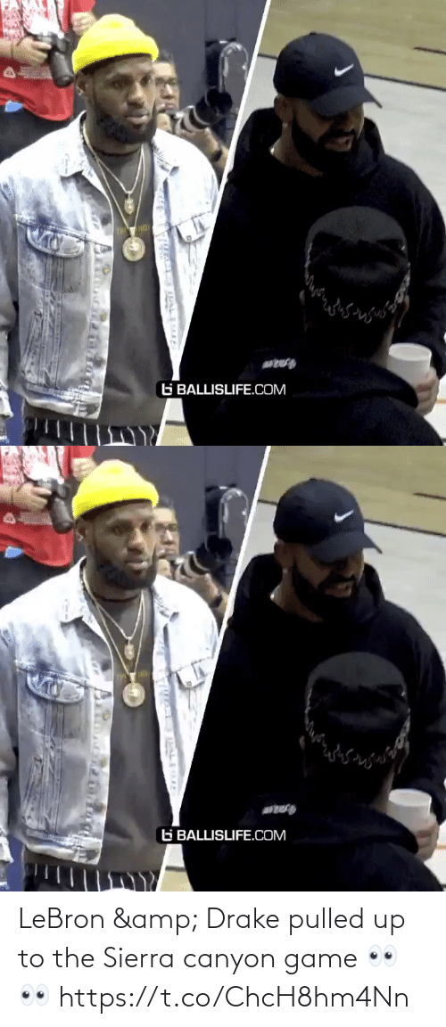 Pulled: LeBron & Drake pulled up to the Sierra canyon game 👀👀 https://t.co/ChcH8hm4Nn