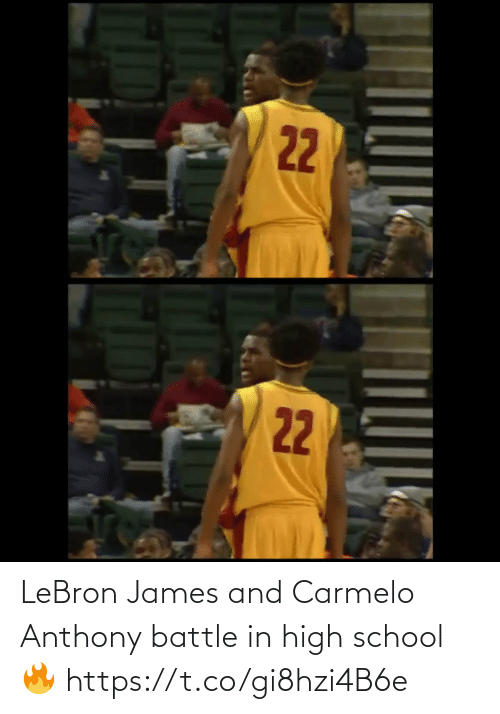 LeBron James: LeBron James and Carmelo Anthony battle in high school🔥 https://t.co/gi8hzi4B6e
