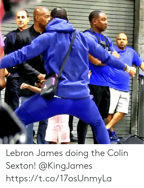 LeBron James: Lebron James doing the Colin Sexton! @KingJames https://t.co/17osUnmyLa