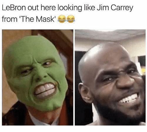 The Mask: LeBron out here looking like Jim Carrey  from 'The Mask' 부부