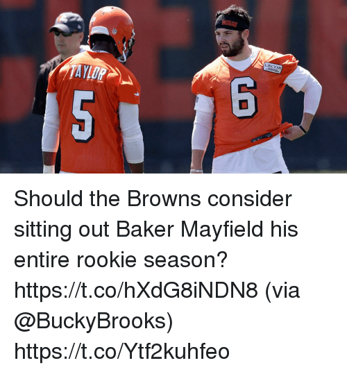 sitting out: LECOM Should the Browns consider sitting out Baker Mayfield his entire rookie season? https://t.co/hXdG8iNDN8 (via @BuckyBrooks) https://t.co/Ytf2kuhfeo