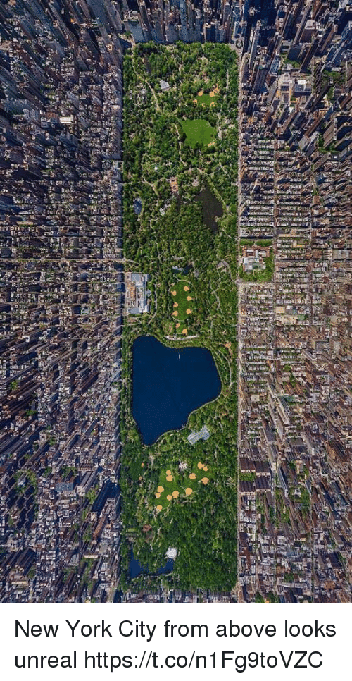Unrealism: lef New York City from above looks unreal https://t.co/n1Fg9toVZC