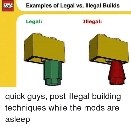 illegal minecraft building techniques reddit