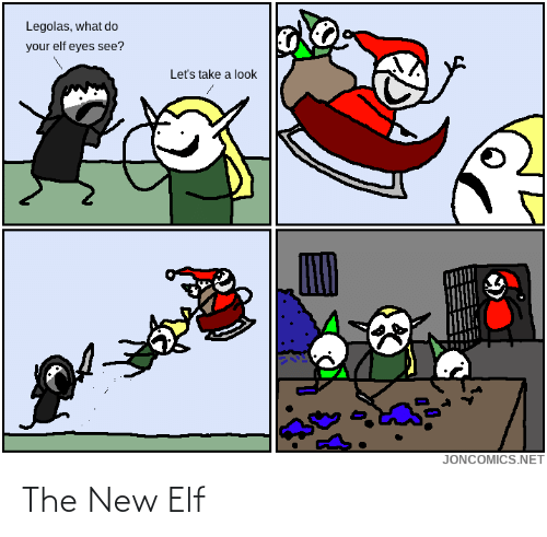 Take A: Legolas, what do  your elf eyes see?  Let's take a look  JONCOMICS.NET The New Elf