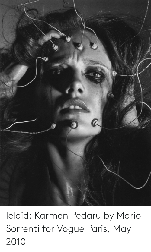 Mario: lelaid: Karmen Pedaru by Mario Sorrenti for Vogue Paris, May 2010