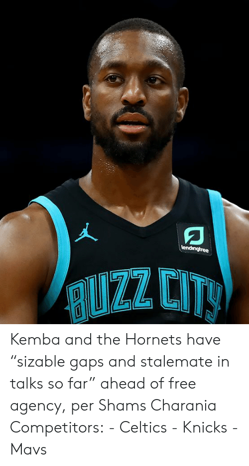 """New York Knicks: lendingtree  RUZZ CITY Kemba and the Hornets have """"sizable gaps and stalemate in talks so far"""" ahead of free agency, per Shams Charania  Competitors: - Celtics - Knicks - Mavs"""
