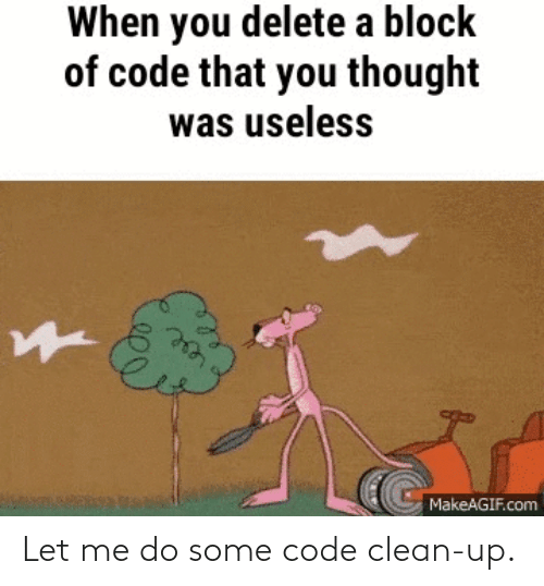 let me: Let me do some code clean-up.