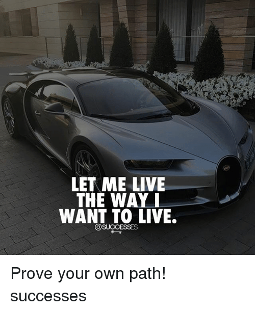 Memes, Live, and 🤖: LET ME LIVE  THE WAY  WANT TO LIVE. Prove your own path! successes