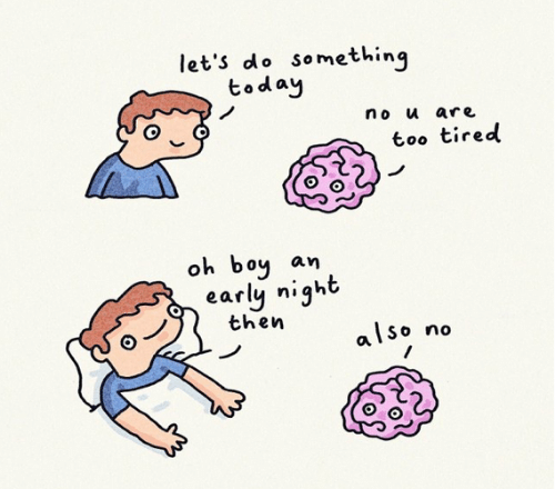 Today, Boy, and No U: let's do something  today  no u are  too tired  oh boy  an  early night  then  also no