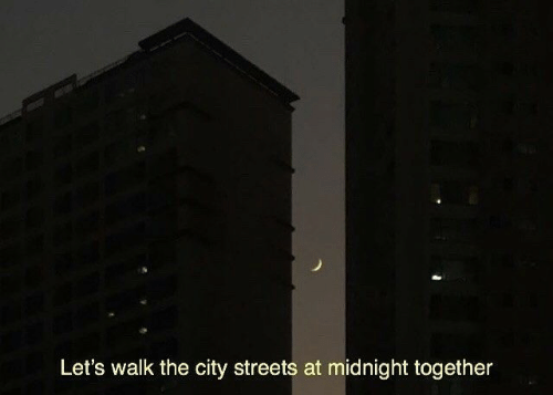 at midnight: Let's walk the city streets at midnight together