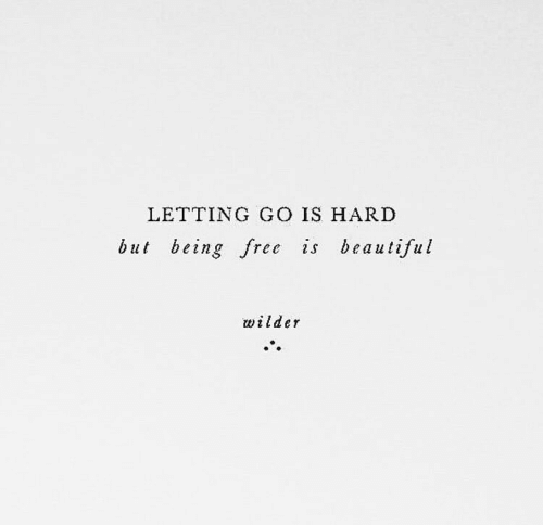 Beautiful, Free, and  Hard: LETTING GO IS HARD  but being free is beautiful  wilder