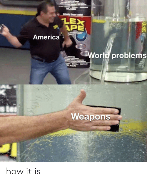 America World: LEX  AAPE  America  World problems  Weapons how it is