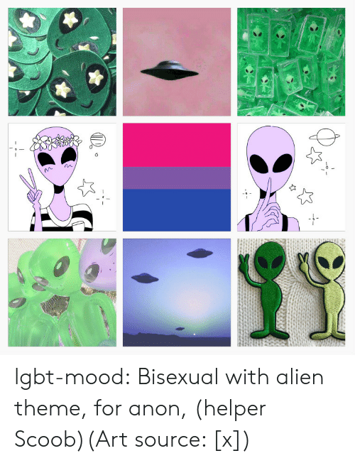 Fashion, Lgbt, and Mood: lgbt-mood:  Bisexual with alien theme, for anon, (helper Scoob)(Art source: [x])
