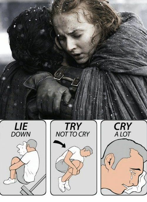25 best memes about lie down try not to cry cry a lot lie down