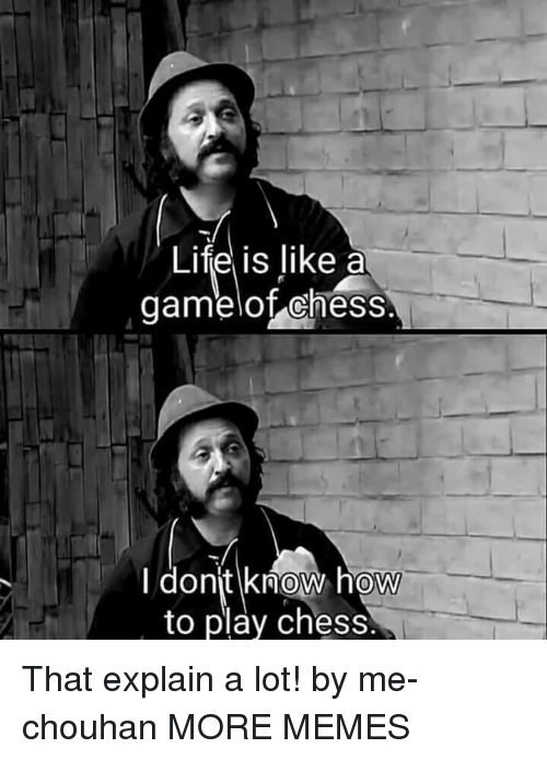 Dank, Life, and Memes: Life is like a  gamelot chess  donjt know how  to play chess  0 That explain a lot! by me-chouhan MORE MEMES