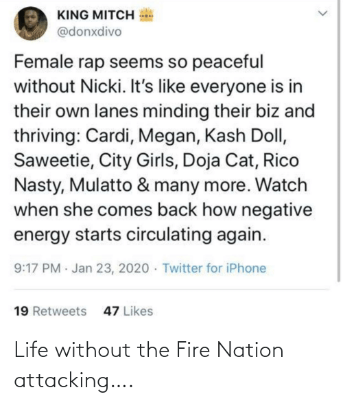 Fire: Life without the Fire Nation attacking….