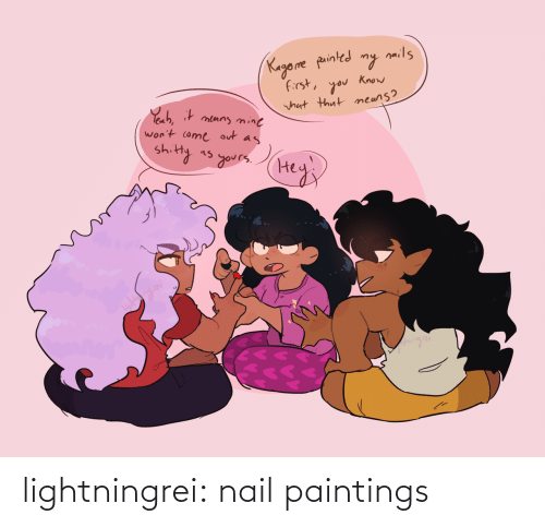 Paintings: lightningrei:  nail paintings