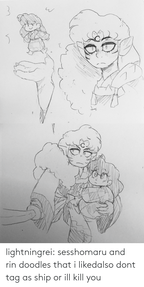 I Liked: lightningrei:  sesshomaru and rin doodles that i likedalso dont tag as ship or ill kill you
