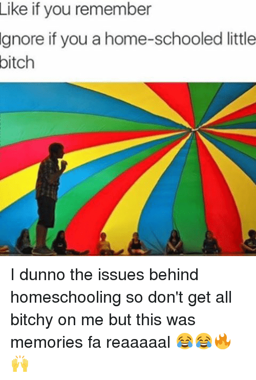 Homeschool: Like if you remember  gnore if you a home-schooled little  bitch I dunno the issues behind homeschooling so don't get all bitchy on me but this was memories fa reaaaaal 😂😂🔥🙌