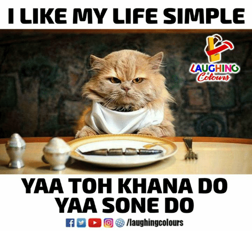 yaa: LIKE MY LIFE SIMPLE  LAUGHING  Colow  YAA TOH KHANA DO  YAA SONE DO