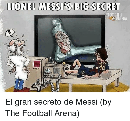 Bigly: LIONEL MESSD'S BIG SECRET  RENA  MESS  ER El gran secreto de Messi (by The Football Arena)