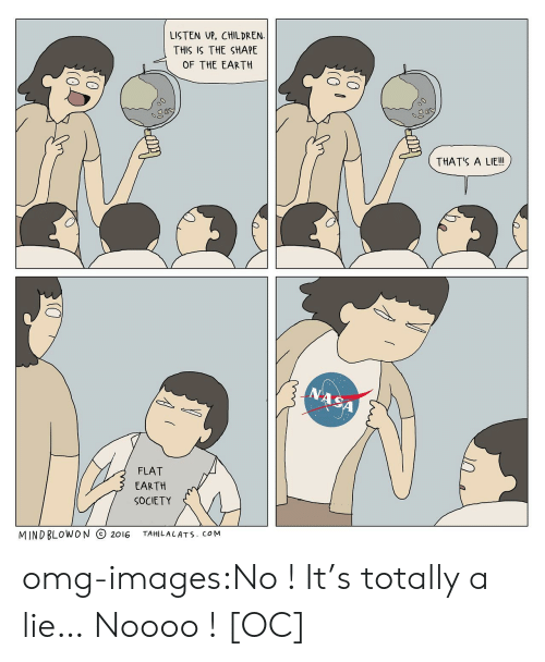 Thats A Lie: LISTEN UP, CHILDREN  THIS IS THE SHAPE  OF THE EARTH  THAT'S A LIE!  SA  FLAT  EARTH  SOCIETY  MINDBLOWON 2016 TAHILALATs. coM omg-images:No ! It's totally a lie… Noooo ! [OC]
