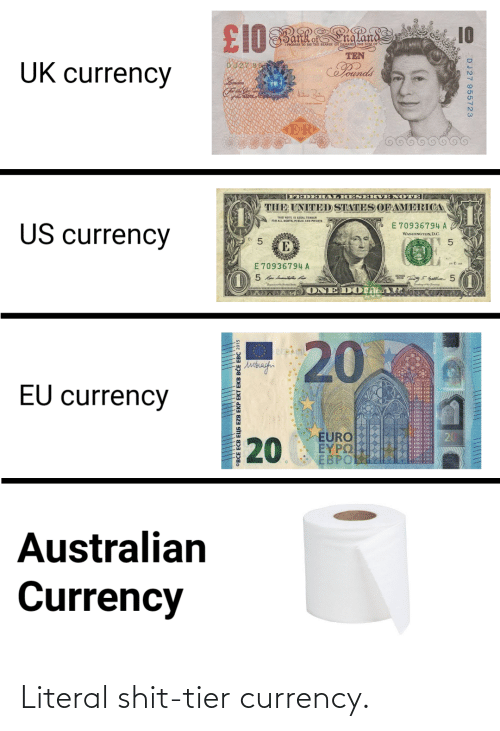 tier: Literal shit-tier currency.