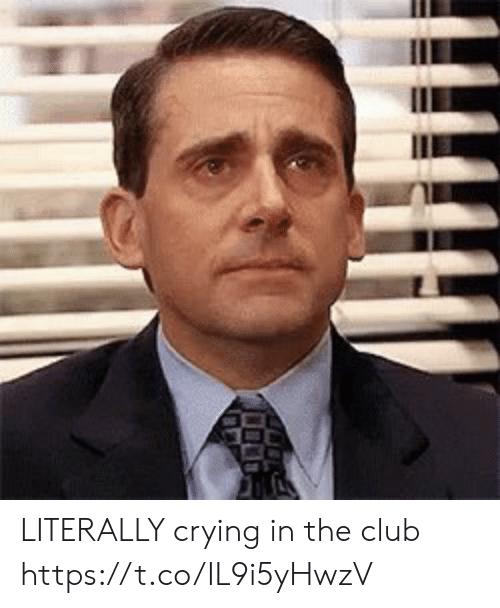 In The Club: LITERALLY crying in the club https://t.co/IL9i5yHwzV