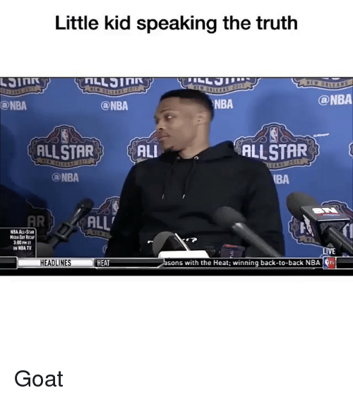 nba all stars: Little kid speaking the truth  @NBA  NBA  ONBA  ONBA  ALLSTAR  ALLSTAR  ALI  ONBA  AR ALL'  NBA ALL-STAR  MEIA RICAN  3:00PM ET  NBA TV  sons with the Heat winning back-to-back NBA  frv  HEADLINES  HEAT Goat