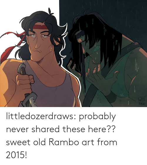 These: littledozerdraws:  probably never shared these here?? sweet old Rambo art from 2015!
