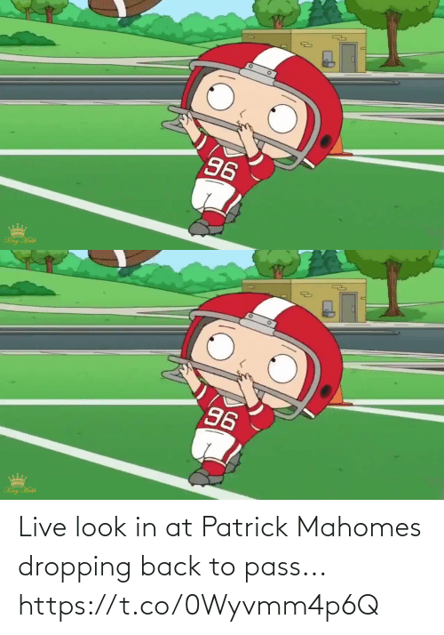 patrick: Live look in at Patrick Mahomes dropping back to pass... https://t.co/0Wyvmm4p6Q
