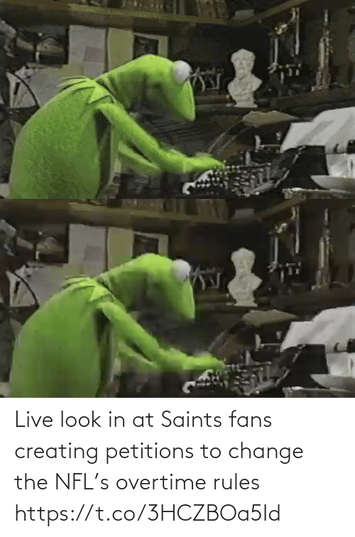New Orleans Saints: Live look in at Saints fans creating petitions to change the NFL's overtime rules https://t.co/3HCZBOa5Id
